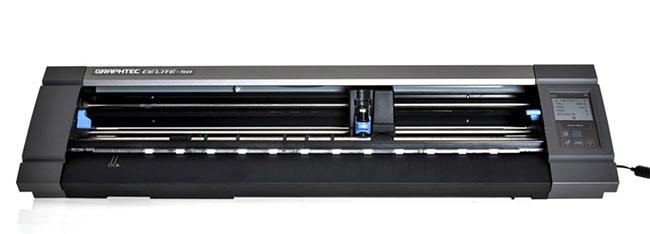 Máy cắt bế decal tem nhãn, cắt decal nhiệt in áo Graphtec CE Lite 50